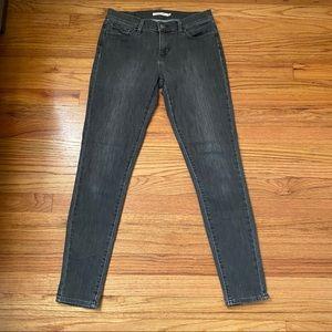 Levis 710 Super Skinny Jeans Gray